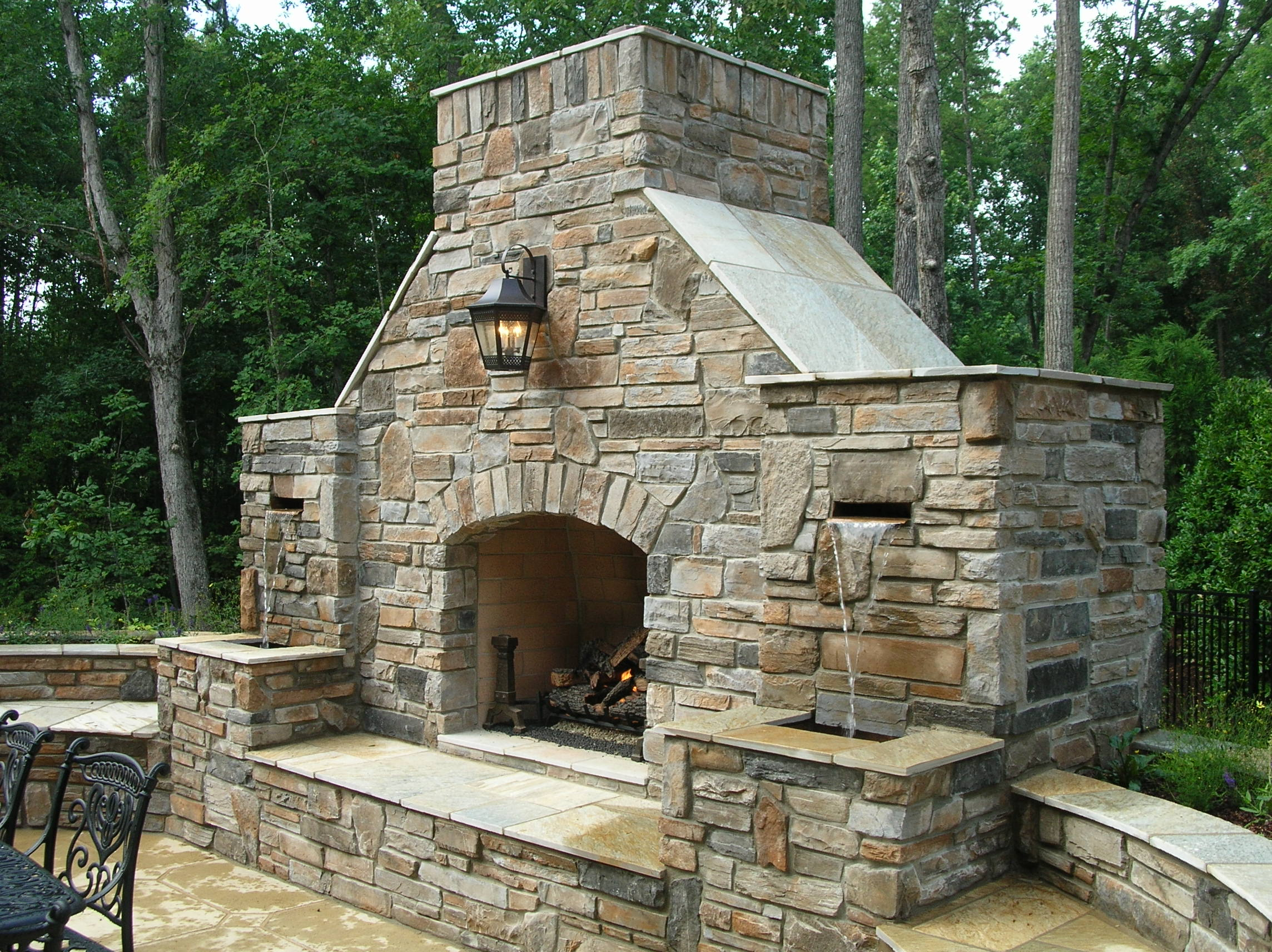 Outdoor Fireplace Install - Adanco Services